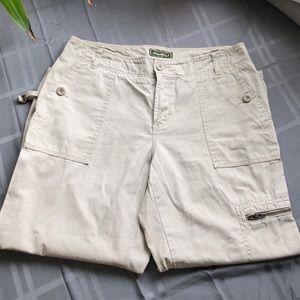 Eddie Bauer Cargo Pants with mult zipper pockets